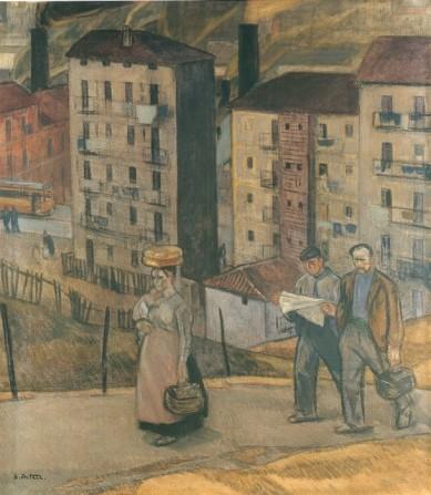 Aurelio Arteta. Barrio obrero de la margen izquierda, circa 1917.