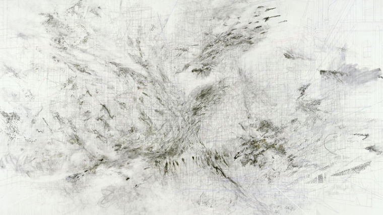 julie, Fragment, 2009 3035 x 415'8 cm