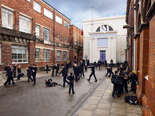 Serie Playground, de James Mollison sobre patios escolares en distintas ciudades del mundo.