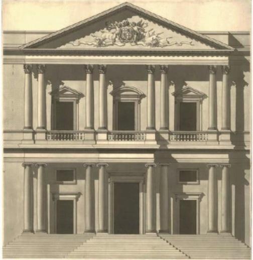 Francisco-Javier-Sáenz-de-Oíza.-Quinto-dibujo-20-de-marzo-de-1941.-Aguada-y-tinta.-45×62cm.-Colección-particular