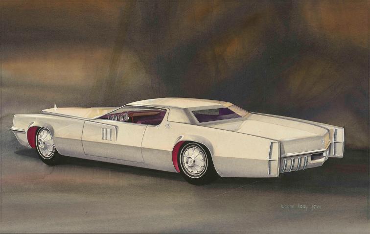 """Propuesta de 1967 para el """"Cadillac Eldorado"""" de 1964, por Wayne Kady."""